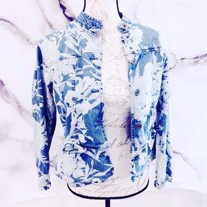 Chico's Blue 1 Medium Denim Jacket Women's
